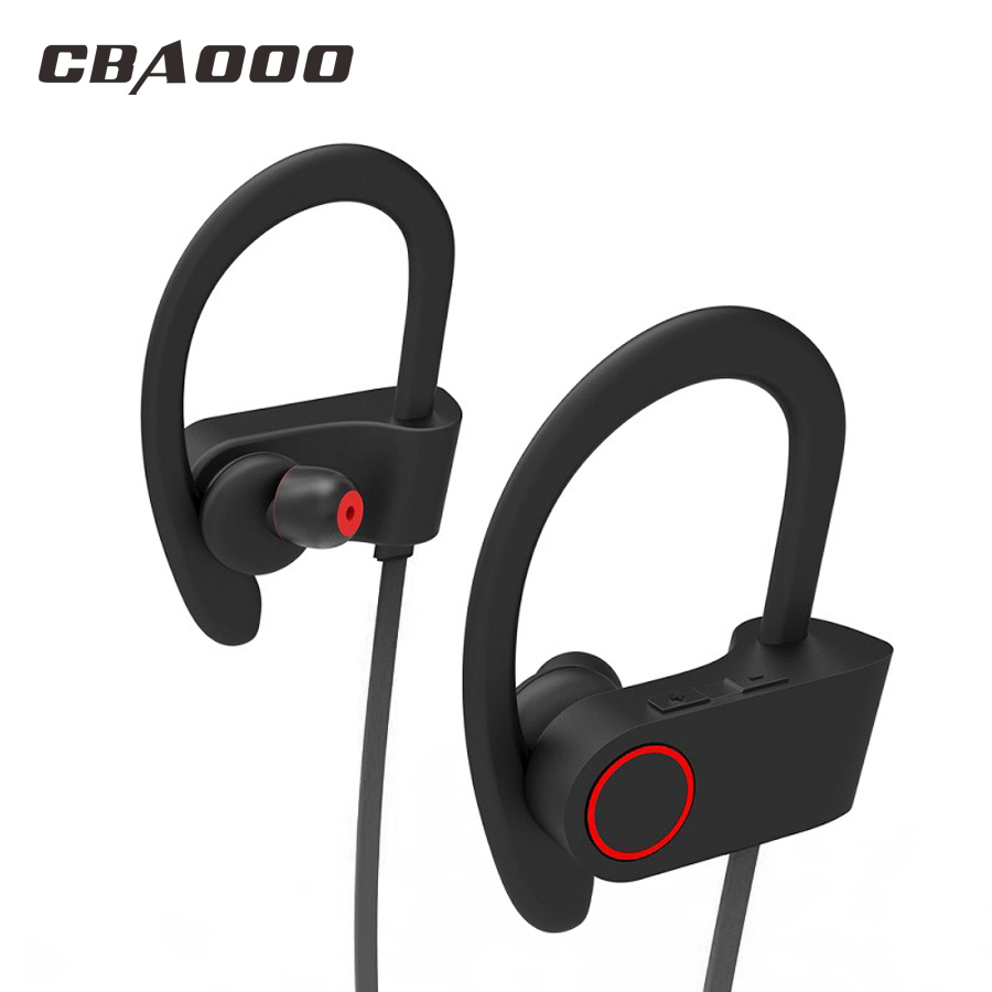 CBAOOO Bluetooth Earphone Wireless Headphone Sport Earphone Waterproof noise reduction Stereo Headset with Microphone new sport running bluetooth wireless ear hook earphone super stereo bass headset noise reduction lot ib for android ios phones