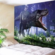 Horror Forest Monster Beast Dinosaur 3D Tapestry Wall Hanging Childrens Bedroom Bedside Big Hippie Carpet Couch Blanket