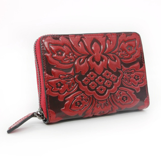 Fashion Women Genuine Embossed Leather Wallet Money ID/Credit Card Holder Small Wallets Famous Brand Female Mini Coin Purse New