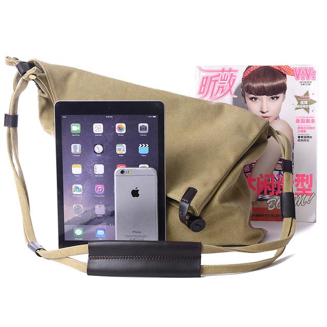New Women Messenger Bags Female Canvas Vintage Shoulder Bag Ladies Crossbody Bags for Small Bucket Designer Handbags Sac bolsas