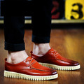Creepers Real Zapatos Hombre 2016 High Quality New Fashion Men Spring Flats Breathable Oxford Shoes Solid Retro Chaussure Homme
