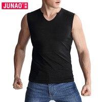 Нижнее белье Для мужчин сексуальная стройная версия Для мужчин широким плечами Для мужчин рубашка хлопок v-образным вырезом футболка без ру...