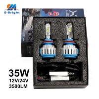 1 Pair 12V 24V 35W T1 Led 9005 9006 H4 H7 H11 H8 Fog Light Bulbs