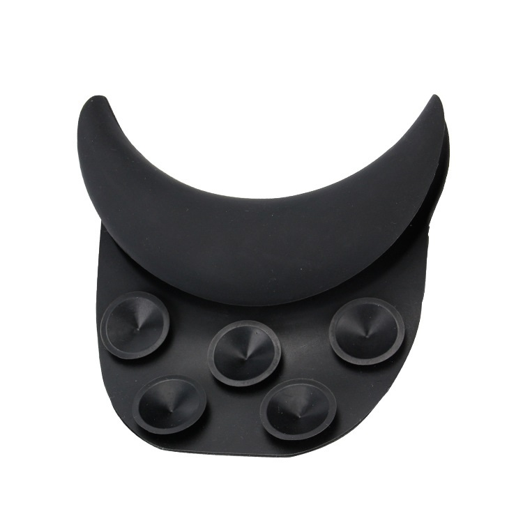 New hair Salon Professional & Equipment 5 suction cups keeps the neck rest in place Silicone Shampoo Neck Black Neck Rest 1