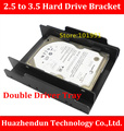 New  Arrive   2.5 inch to 3.5 inch Hard Drive Bracket  Double Driver  Tray     Plastic     Double  Conversion   Bracket