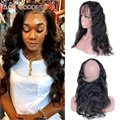7A Grade 360 Body Wave  Wave Frontal Malaysian Body Wave ACE Hair 360 Frontal Band Human Hair Frontal Closure With Baby Hair
