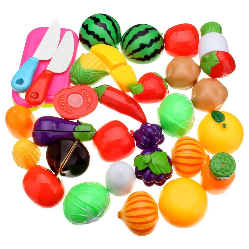 nuovo 20 pz cut divertimento frutta verdura cucina playset giocattolo della casa del gioco di plastica