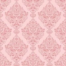 HUAYI Art Fabric Pink Damask Wallpaper Printed Photography Customize Newborns Background D 7139