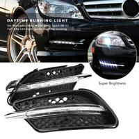 1 Pair Car Daytime Running Light DRL LED Lights Fog Lamp for Mercedes Benz W204 Sport 2008 2011 for W204 AMG Sport 2008 2011