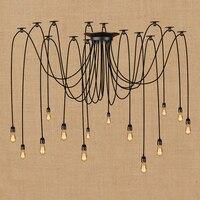 아트 데코 큰 거미 산업 세라믹 lampholder 블랙 현대 펜 던 트 램프 로프트 led 조명 E27 펜 던 트 조명 부엌에 대 한