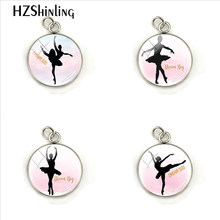 Romantic, Elegant Ballet Glass Cabochon Pendant Fashion Dream Big Quote Gift Hand Craft Jewelry Stainless Steel Plated Charm(China)
