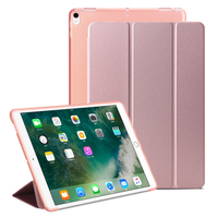 For IPad 2 3 4 Cover Soft TPU All Round Protection Tablet Case Tri Folded PU