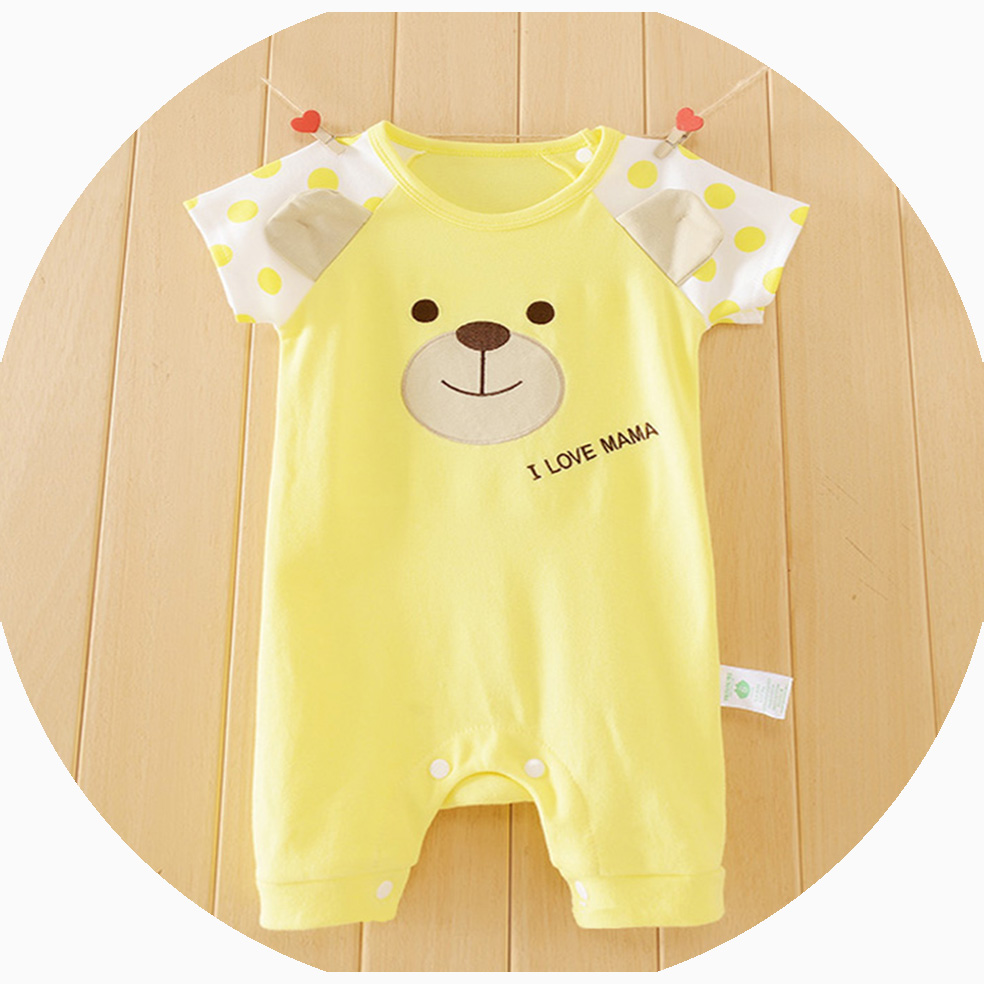 Cute Short Sleeve Baby Boy Newborn Baby Romper Infant Jumpsuit Summer Cotton Girl Floral Collar Animal Rompers Baby For Babies summer cotton baby rompers infant toddler jumpsuit lace collar short sleeve baby girl clothing newborn overall clothes