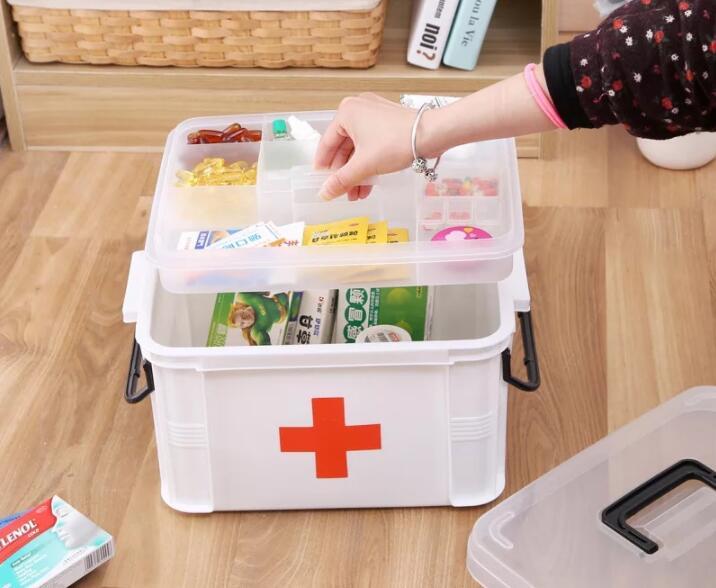 XSB41-XSB60 3 Mt Tragbare Schichten Erste-hilfe-kit Medizin Quittungen Haushalt Medizin Kit