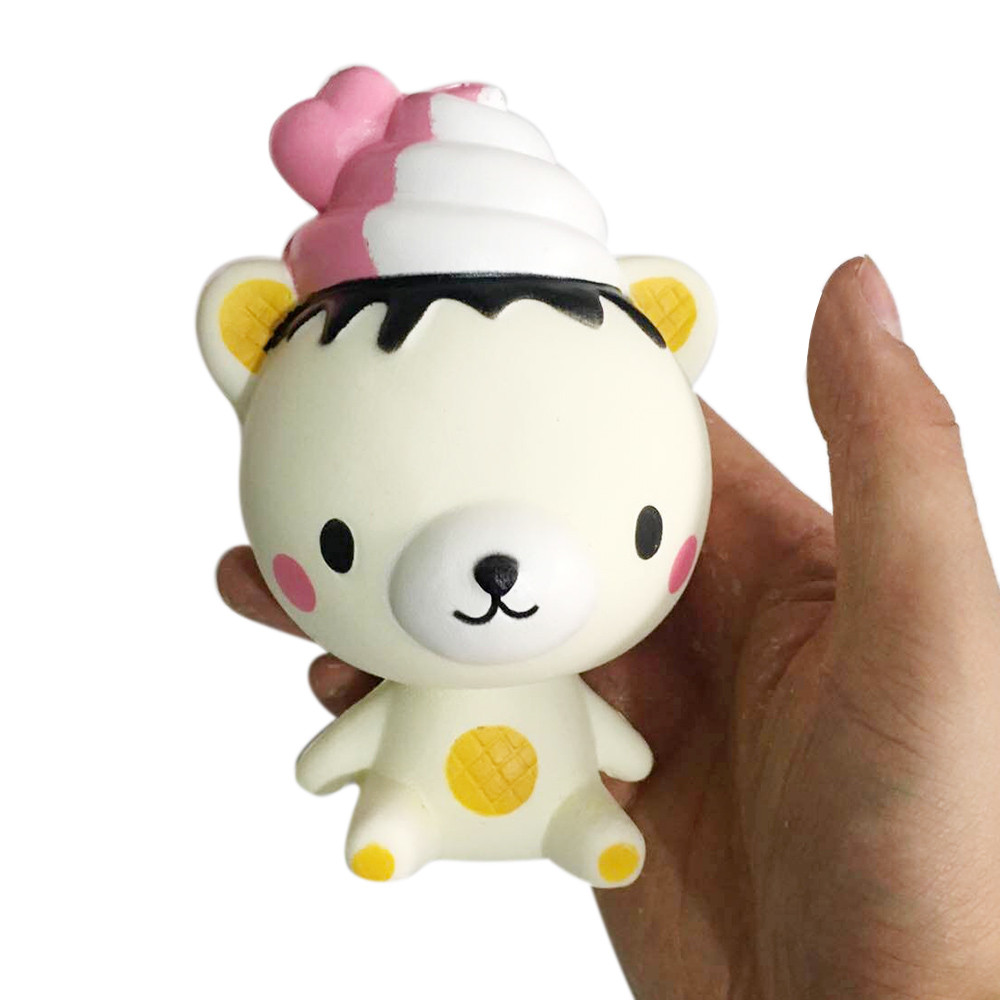 Cute Gift Exquisite Fun Q Poo Bear Scented Squishy Charm Slow Rising 13cm Simulation Toy 28S7109 drop shipping