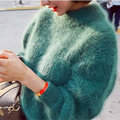 9 Color Army Green Pullover Women 2017 Pull Femme Women Lantern Sleeve Sweaters And Pullovers Sweter Corto De Mujer Thick YY340