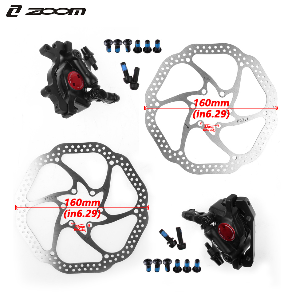 ZOOM HB100 Mountain Bike Road Bike Front and Rear Line Pull Hydraulic Disc Brake Folding bicycle Brake-in Bicycle Brake from Sports & Entertainment