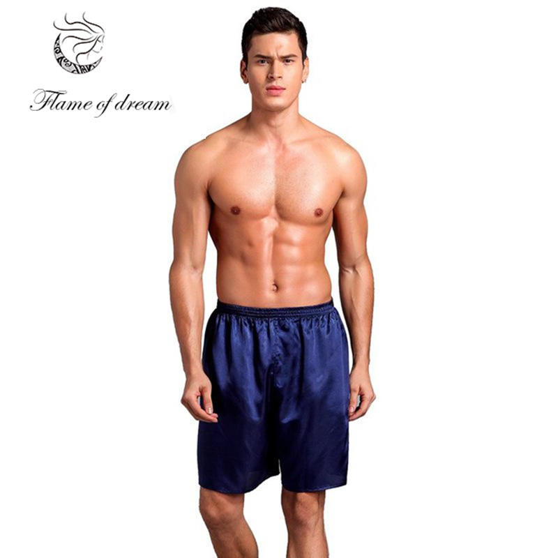Sleep Pants Men Shorts Men Mens Silk Pants Pajama Bottoms 1198