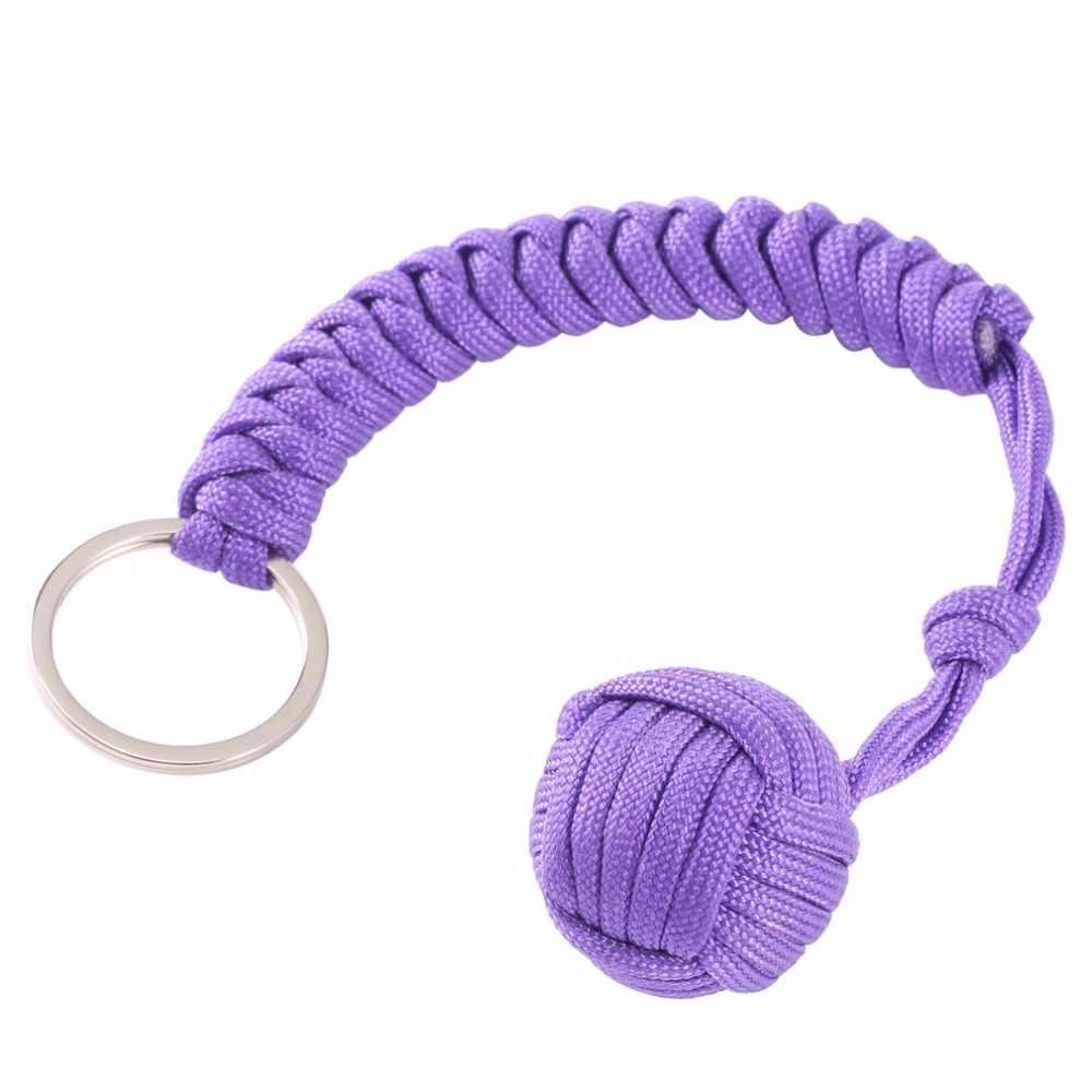 קוף אגרוף פלדה כדור חיצוני אבטחת הגנה נושאות הגנה עצמית שרוך הישרדות כלי רב תכליתי מחזיק מפתחות Keychain
