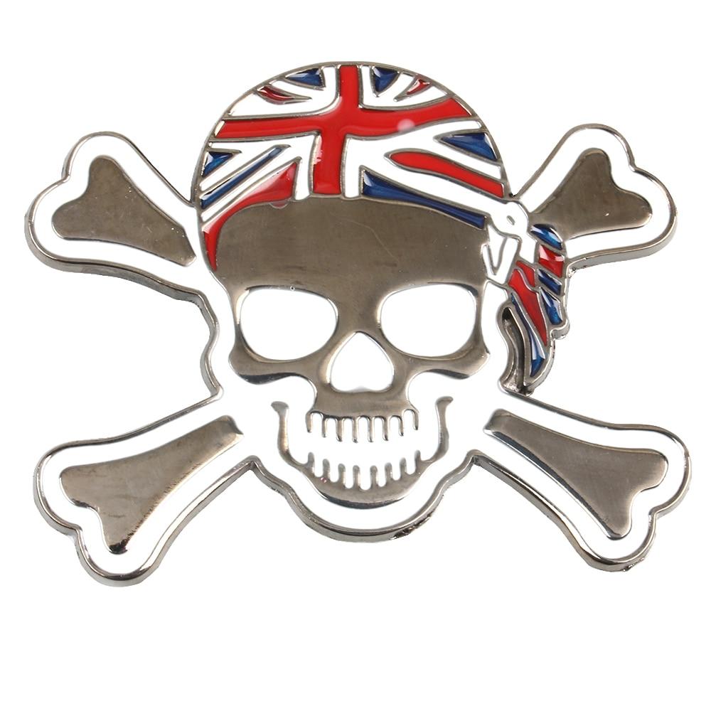 Bike sticker design images - 1pcs 3d Metal Skull Motorcycle Bike Car Sticker Logo Emblem Badge Decals Car Styling For Fiat