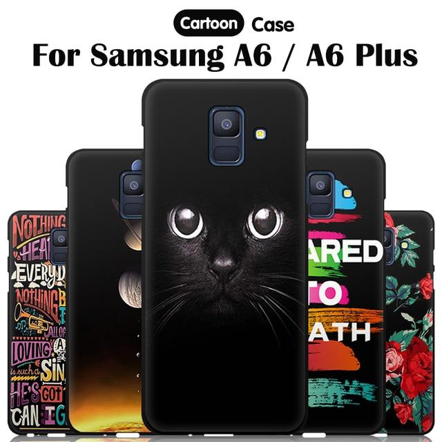 reputable site 67605 0e50f US $1.42 55% OFF|EiiMoo Case For Samsung Galaxy A6 Case 2018 Silicone  Cartoon Print Cover For Samsung Galaxy A6 Plus 2018 Cover Phone Back  Bags-in ...