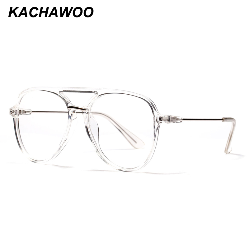 8f45eca8a6d0 Kachawoo oversized eyeglasses frames men big size transparent frame retro  glasses for women accessories oculos de sol feminino-in Eyewear Frames from  ...
