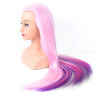 Cosmetology Mannequin Heads with Hair Mannequin Head colorfull Maniqui Women Female no Makeup Training Hairstyle Cutting