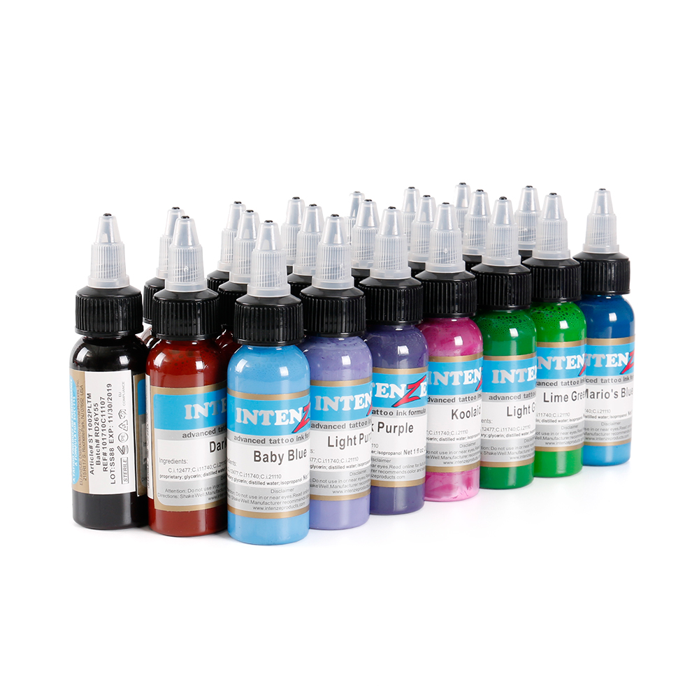 Wholesale high quality  30ml Professional Tattoo Ink 14 Colors Set 1oz 30ml/Bottle Tattoo Pigment Kit Fashion Makeup cosmetics