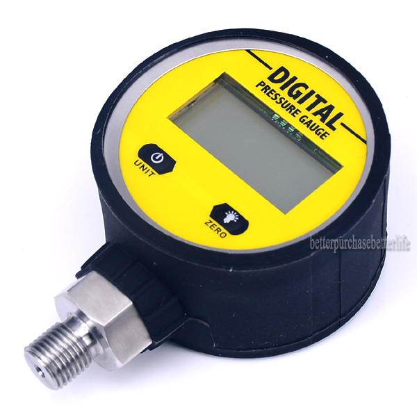 цена на 0-25Mpa NPT1/8 3V Digital Display Oil Pressure Hydraulic Gauge Pressure Test Meter For Gas Water Oil Durable