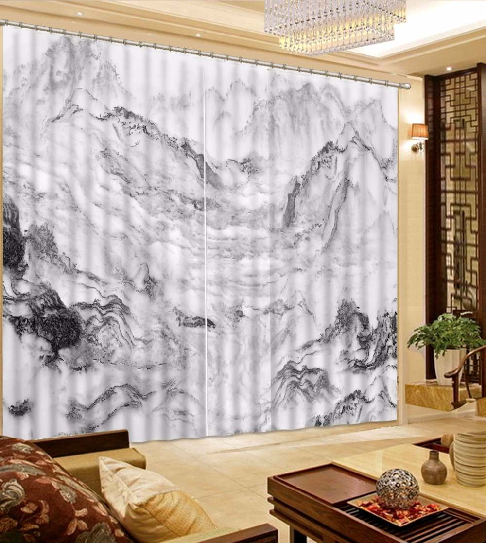 New Chinese 3D Curtains home decor home decor Marble curtain for living room Bedroom hotel blackout curtains New Chinese 3D Curtains home decor home decor Marble curtain for living room Bedroom hotel blackout curtains