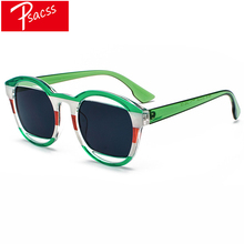 Psacss Round Sunglasses Women Men Vintage Red Green Luxury Brand Designer Sun Glasses Male Female Fashion Mirror Retro Shades