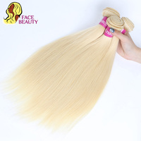 Facebeauty 613 Honey Blonde Peruvian Straight Remy Hair Weave Bundles 1/3/4 Pcs Lot Human Hair Extensions 8 30 inch Can Be Dye