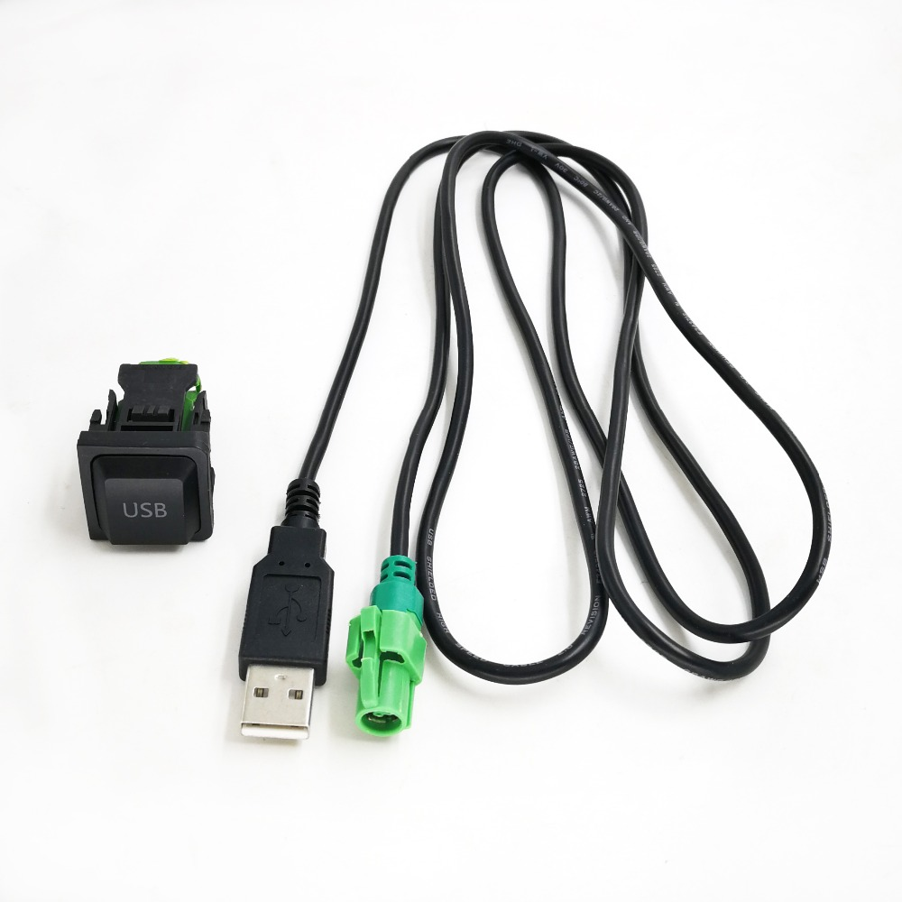 Автомобильный радиоприемник 12 В, USB-переключатель, панель, USB-кабель, адаптер, аудио устройство для Volkswagen Touran Passat для Skoda Octavia Fabia RCD510 RCD310