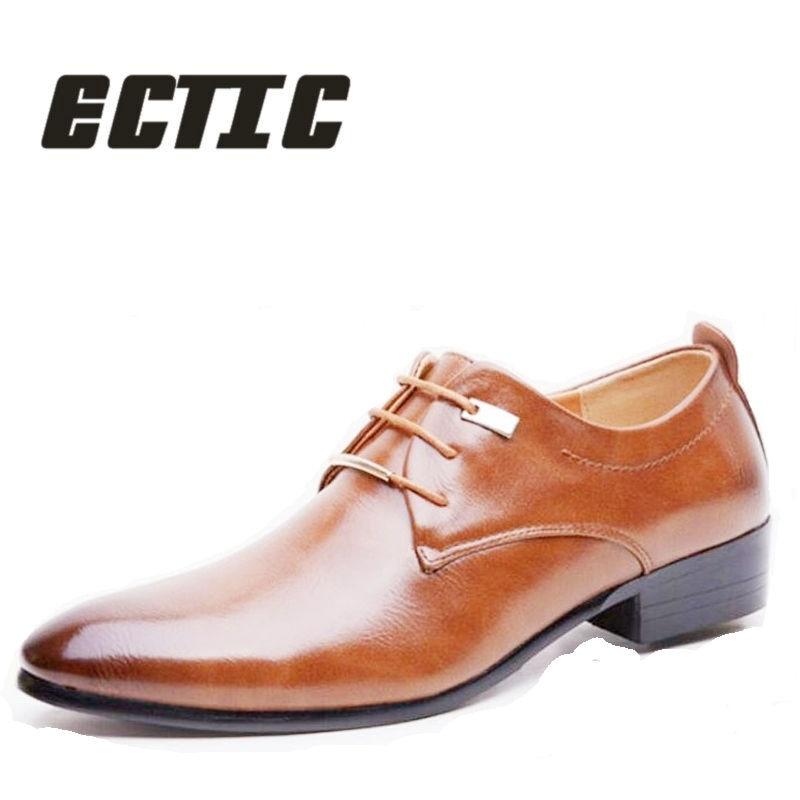 Men's Shoes Qwedf 2019 New Mature Men Dress Leather Shoes Fashion Men Wedding Dress Shoes Business Comfortable Office Party Shoes Dd-045 Formal Shoes