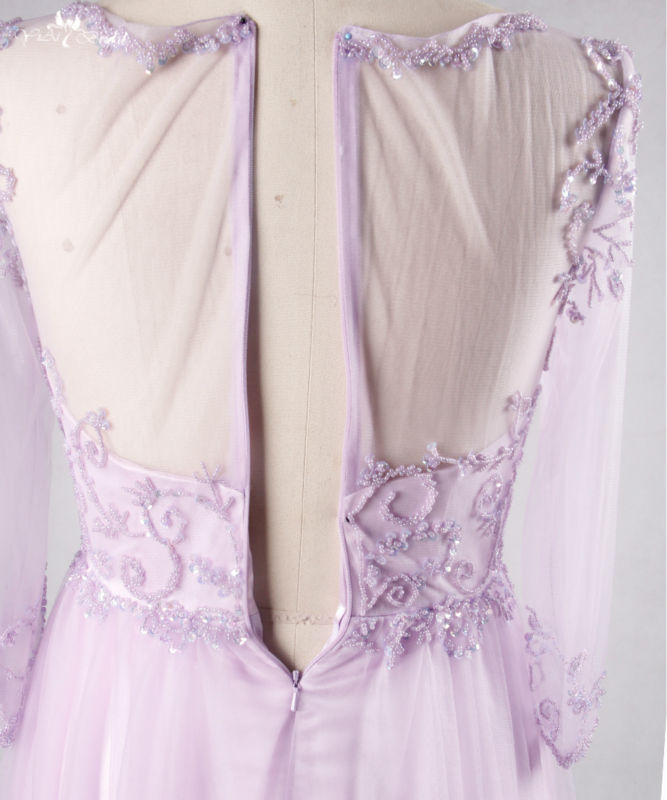 RSE714. long evening beading tulle prom dress lilac homecoming dresses (3)