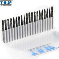 TASP 20PC Tungsten Carbide Rotary Burr Set Dremel Accessories For Milling Engraving Carving
