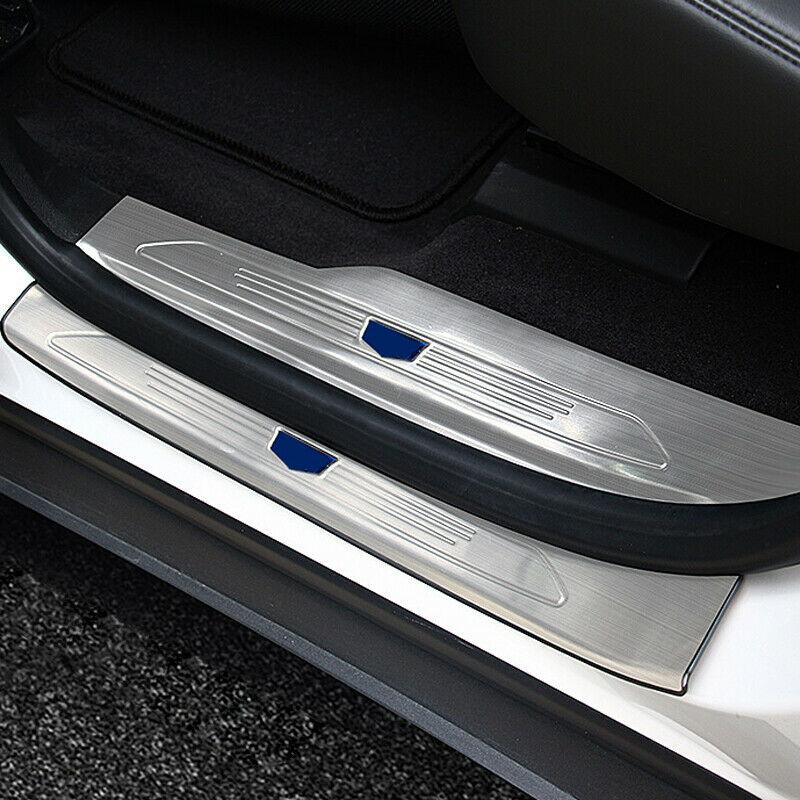 Paslanmaz iç + dış yan kapı eşiği tıkama plakası için 8 adet Cadillac XT5 16-19
