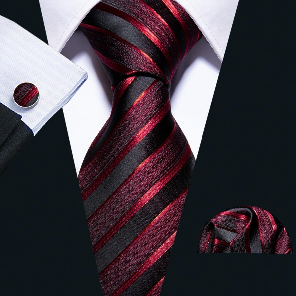 Новые Свадебные Для мужчин галстук красный в полоску модные дизайнерские Галстуки для Для мужчин Бизнес 8,5 см Dropshiiping Барри. Ван галстук для ...