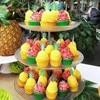 1 Juego de Toppers de flamenco, palmeras, magdalenas, Aloha, Fiesta EN LA Piscina de verano, y boda Decoración de cumpleaños, suministros de baño de bebé