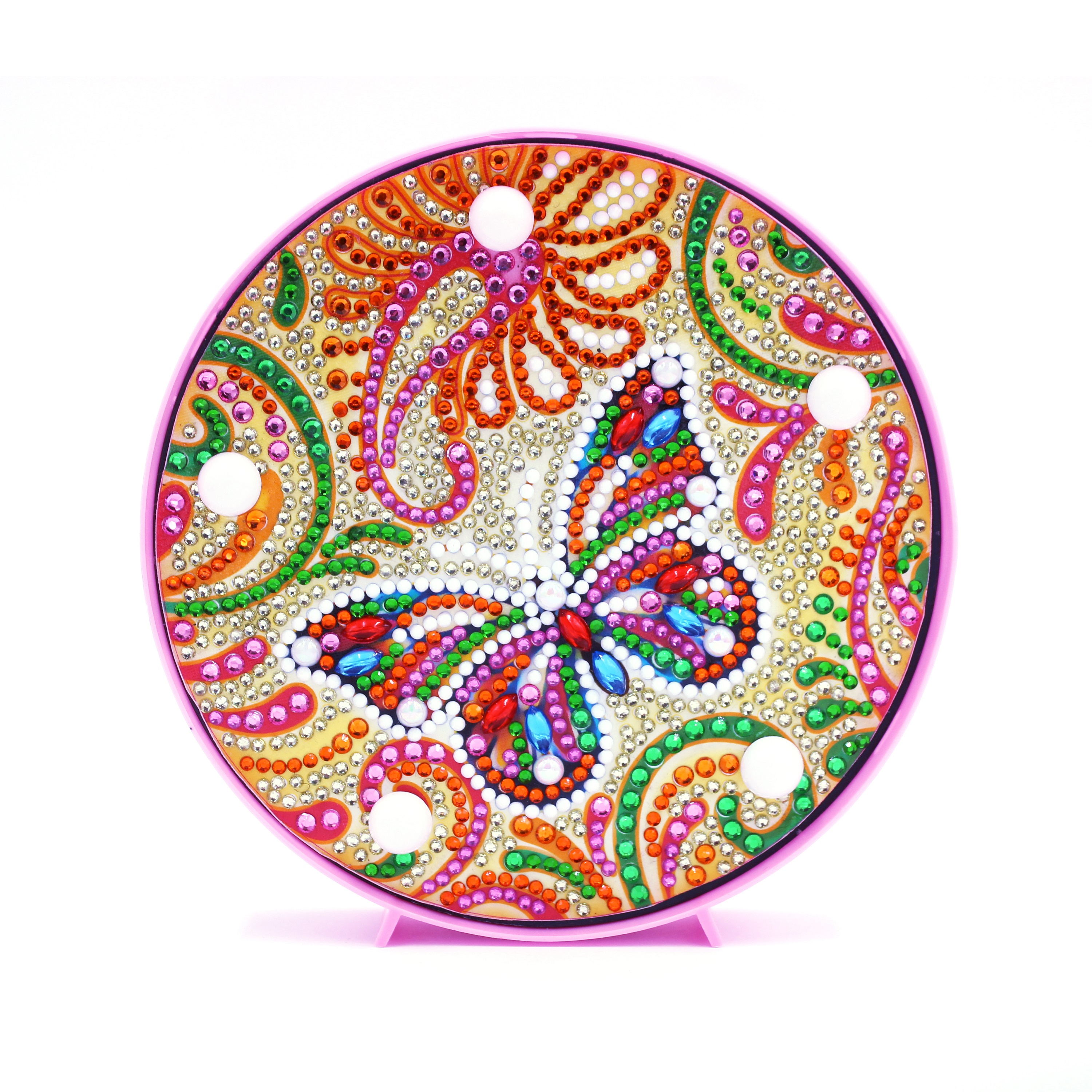 Us 8 75 5d Diy Diamond Pianitng With Frame Diy Art Crafts For Kids Led Light Cross Stitch Butterfly Caton Design Christmas Gift Zxd017 In Diamond
