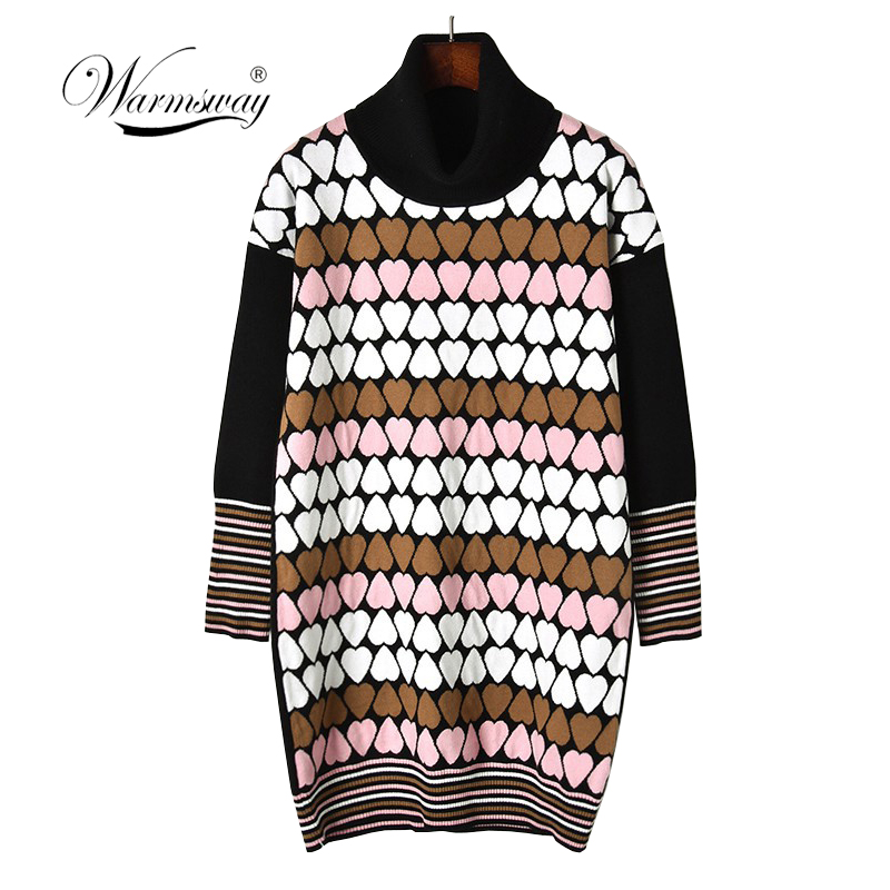 New Fashion high-quality Love knitting pattern Vintage Loose Casual College Wind Long Sleeve Female Sweaters C-341