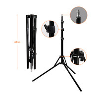 fosoto 1/4 Screw Head Light Stand Tripod Photo Studio Accessories For Ring Light & Softbox Photo Video Lighting Flashgun Lamps