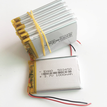 10 pcs 503450 3.7V 1000mAh Lithium Polymer LiPo Rechargeable Battery li ion cells For Mp3 DVD PAD mobile phone camera recorder