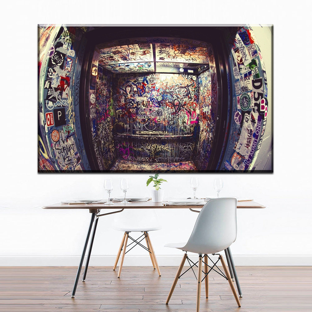 Graffiti Bedroom Art Paint Colors For Bedroom Youth Bedroom Sets Simple Little Boy Bedroom Ideas: XX433 Graffiti Canvas Wall Art Abstract Canvas Pictures