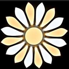 Современный 16 лепестков цветка из светодиодов потолочный светильник белый акрил заподлицо потолок блеск для красоты ресторане отеля лампа