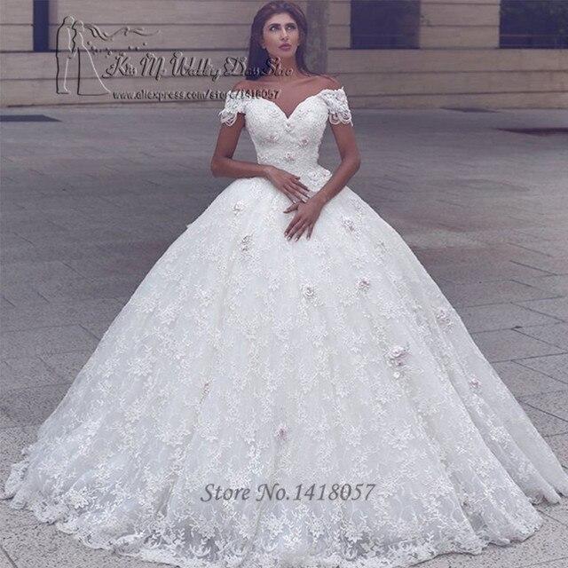 e4bc8df7aa707 الفاخرة فساتين زفاف تركيا الهند الكرة ثوب العروس اللباس 2017 الرباط أثواب  الزفاف الزهور vestido دي