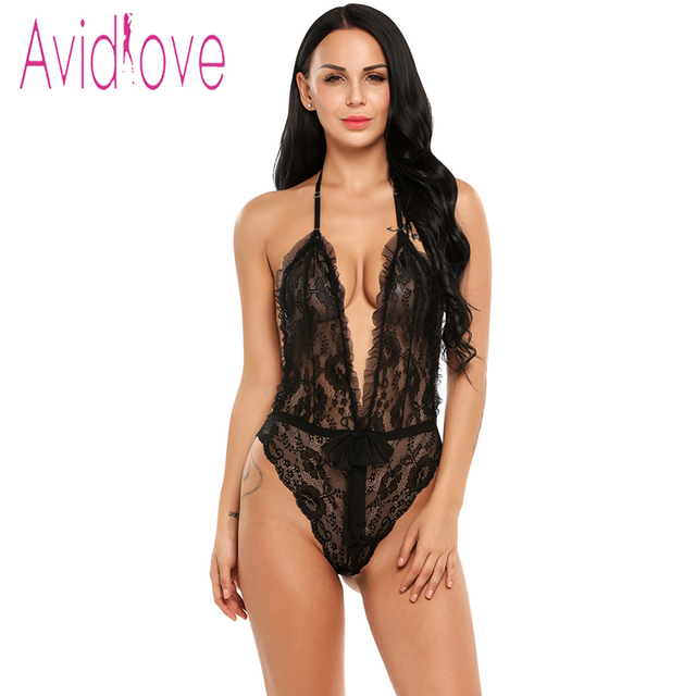 24395117e06 Avidlove Adult Sex Costumes Teddy Nightwear Women Mini Babydoll Lingerie  Sexy Hot Erotic Body Suit Black Porn Underwear Nighty