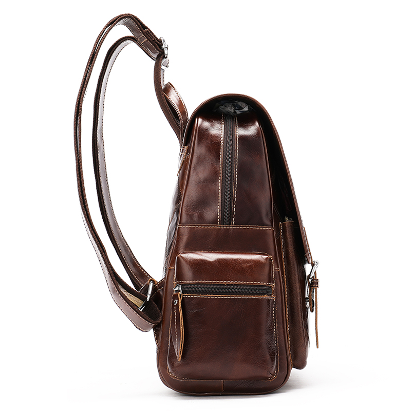 WESTAL Plaid Women Backpack Genuine Leather Backpack for Girls Female Travel Backpacks School Bags Leather Laptop Backpacks