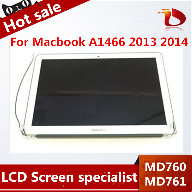 New Original For Brand new original Macbook Air 13 A1466 LCD Assembly Display Screen For Year 2013 2014 MD760 MD761 661-7475 original brand new for macbook a1466 a1369 lcd screen display panel 13 3 glass