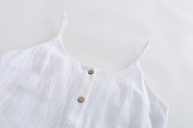 Forefair Sexy jumpsuit Shorts White Ruffles (5)